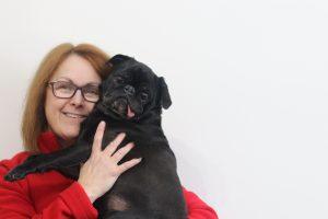 Kelly & Edie the Pug